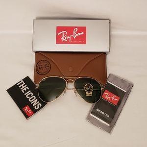 Unisex Ray Ban Aviator Sunglasses G-15 58mm